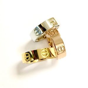 Jewelry - STAINLESS STEEL LOVE SCREW HEAD BAND RINGS